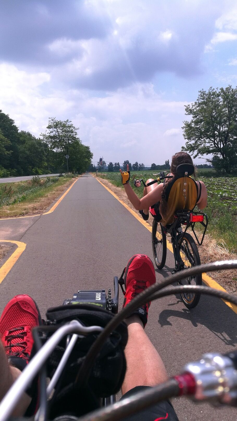 Fekvő kerékpárral mindíg élmény a tekerés