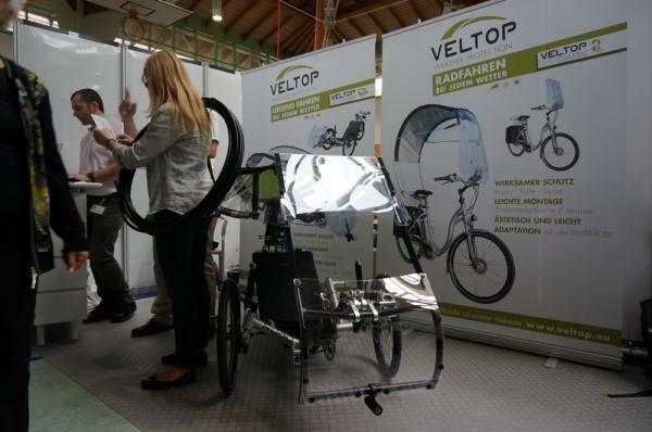 Mozgássérült elektromos kerékpárokra készített védő