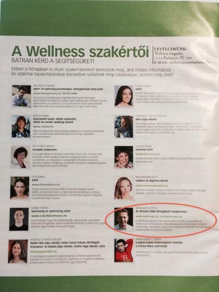 bekerültünk a wellness szakértők közé
