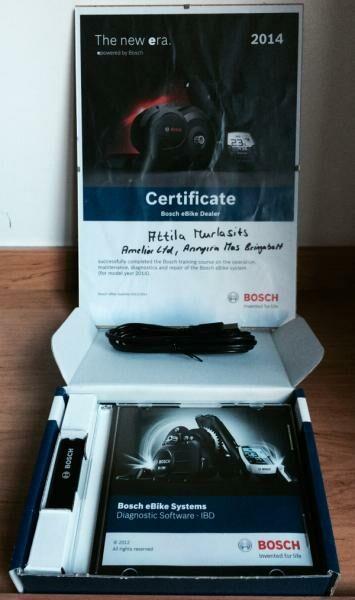 Bosch diagnosztikai eszközünk és a certificatetünk