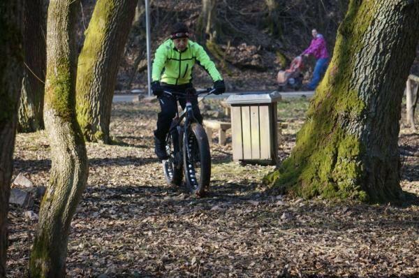 Erdei tesztelés az elektromos kerékpárral
