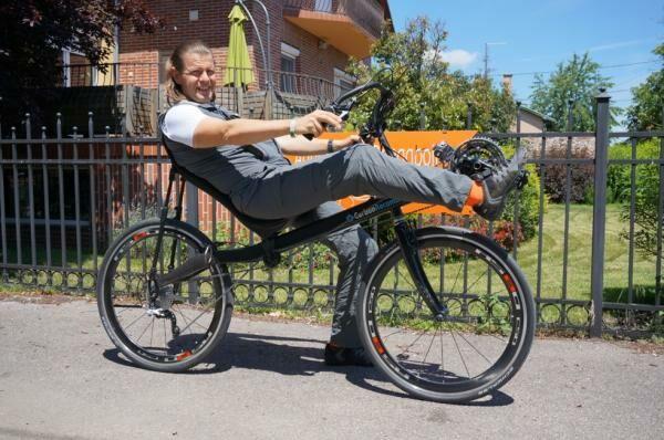 Carbonrecumbent fekvőkerékpár Ambringa tuninggal