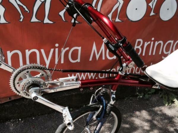 kézihajtányos fekvőkerékpár hajtómű