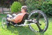 Vortex+ rekumbens trike HED karbon hátsó kerékkel