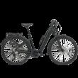 Zemo ZE 10 elektromos kerékpár unisex komfort vázzal, fekete színben