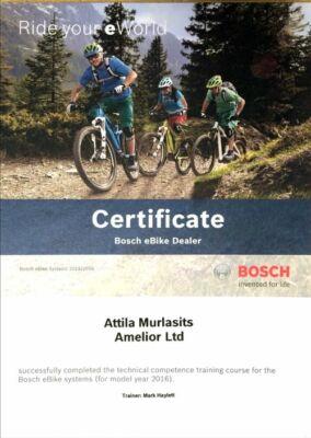 hivatalos Bosch márkaszervíz képesítést kaptunk