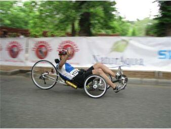 háromkerekű fekvőkerékpár