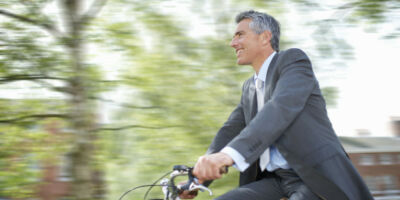 Stressz mentes munkába járás biciklivel