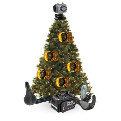 karácsonyfa bringásnak való díszítéssel