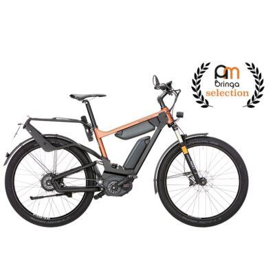 Riese und Müller Delite GT NuVinci HS dupla akkumulátoros elektromos kerékpár narancs színben