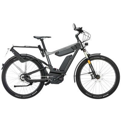 Riese und Müller Delite GX HS elektromos kerékpár dupla akkumulátorral szürke színben