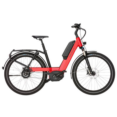 Riese und Müller Nevo Nuvinci elektromos kerékpár piros színben