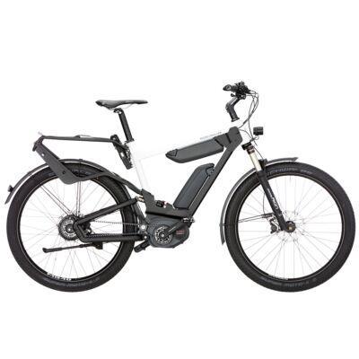 Riese und Müller Delite GT Nuvinci dupla akkumulátoros elektromos kerékpár fehér színben