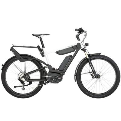 Riese und Müller Delite GT elektromos kerékpár dupla akkumulátorral fehér színben
