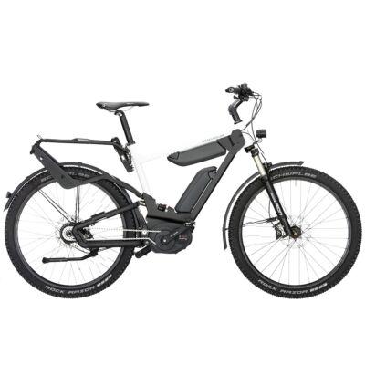 Riese und Müller Delite GX Rohloff dupla akkumulátoros elektromos kerékpár fehér színben