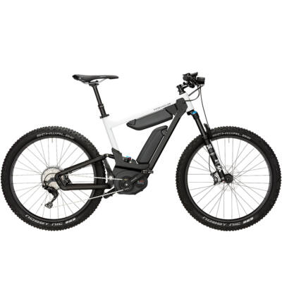 Riese und Müller Delite Mountain elektromos kerékpár dupla akkumulátorral fehér színben