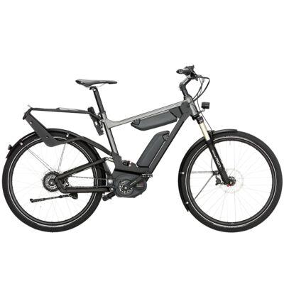 Riese und Müller Delite NuVinci elektromos kerékpár dupla akkumulátorral szürke színben