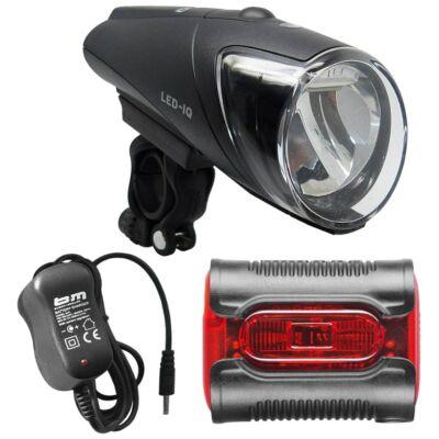 B&M IXON IQ LED 80 Lux töltővel, hátsó lámpával