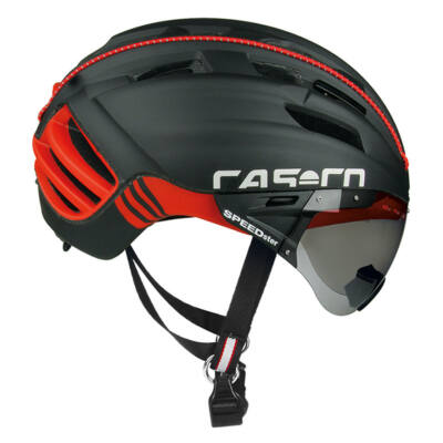 Casco Speedster-Tc plus fekete-piros + lencse