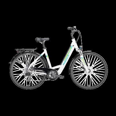 Pegasus Piazza EVO elektromos kerékpár fehér színben