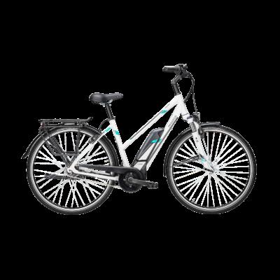 Pegasus Premio E8F Comfort elektromos kerékpár fehér színben