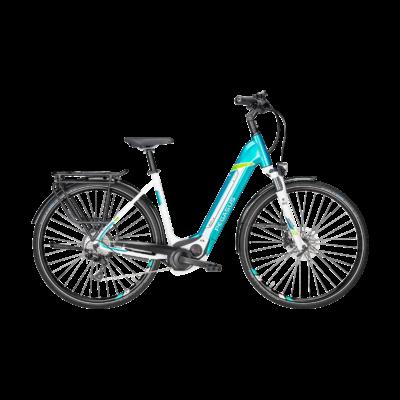 Pegasus Premio Evo 10 elektromos kerékpár kék-fehér színben
