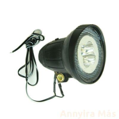 Lámpa E 4 LED dinamós kerek