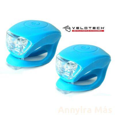 Villogó Velotech 2LED kék