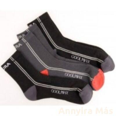 Endura CoolMax kerékpáros zokni hármas csomagolású