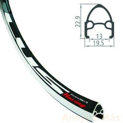 Felni Rodi 622x13 36H fekete Stylus
