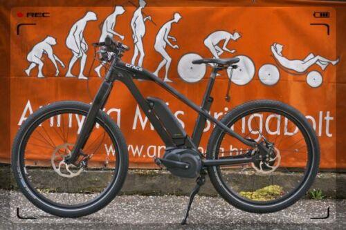 fekete elektromos kerékpár