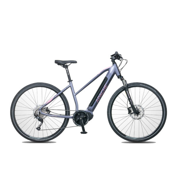 Apache Matta MX-I elektromos kerékpár ezüst-lila színben