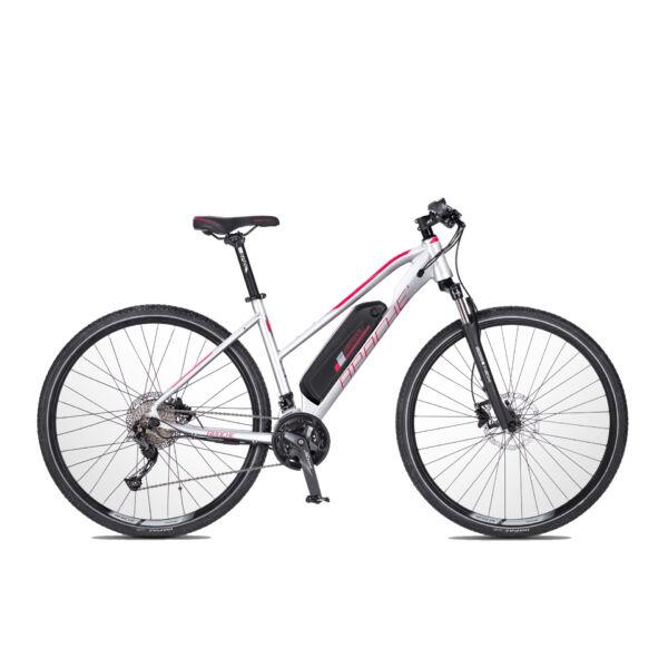 Apache Matto WMN E5 elektromos kerékpár ezüst színben
