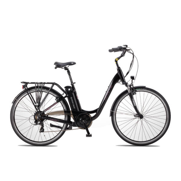APACHE Wakita City 28 elektromos kerékpár fekete színben
