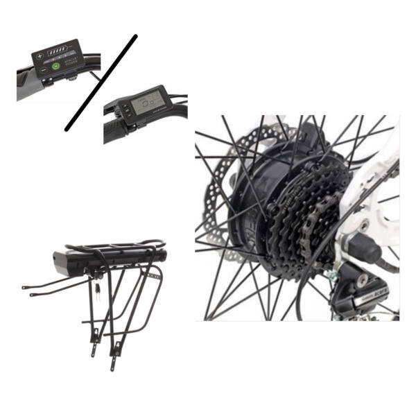 Apache hátsó agymotoros elektromos kerékpár átalakító szett csomagtartós akkumulátorral