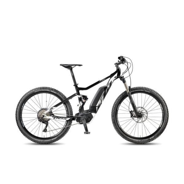 KTM Macina Lycan 275 elektromos kerékpár fekete-fehér színben