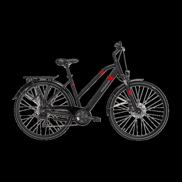 Pegasus Piazza Evo elektromos kerékpár fekete színben