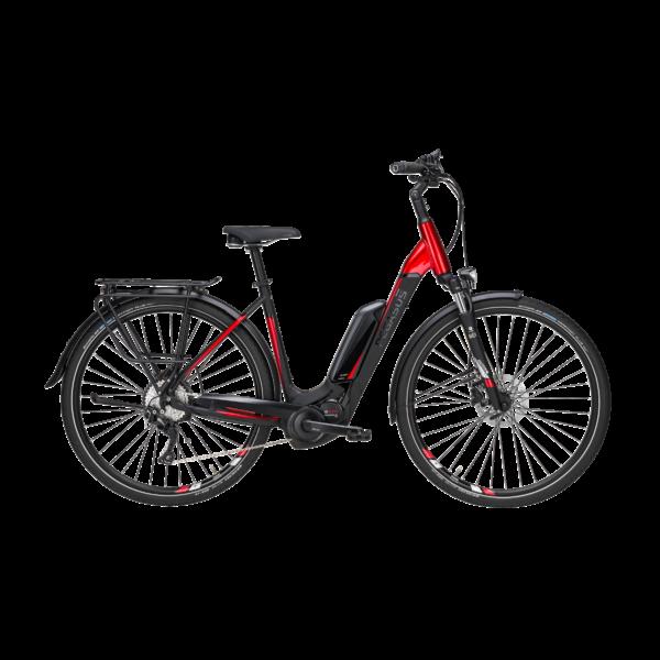 Pegasus Premio E10 elektromos kerékpár fekete-piros színben