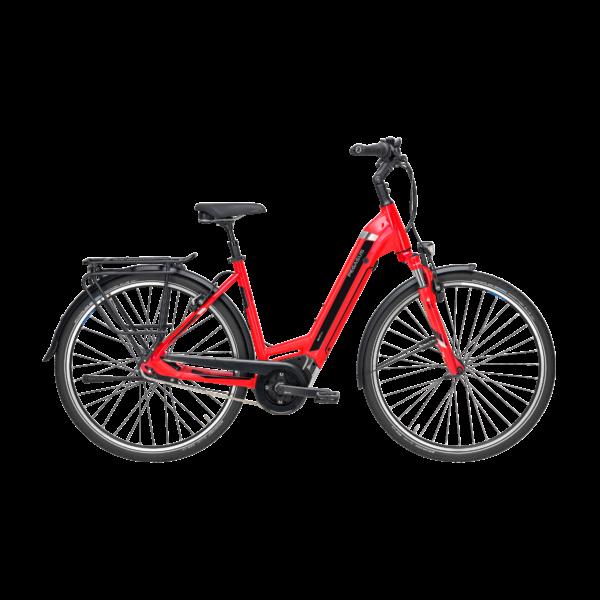 Pegasus Premio Evo 8F elektromos kerékpár piros színben