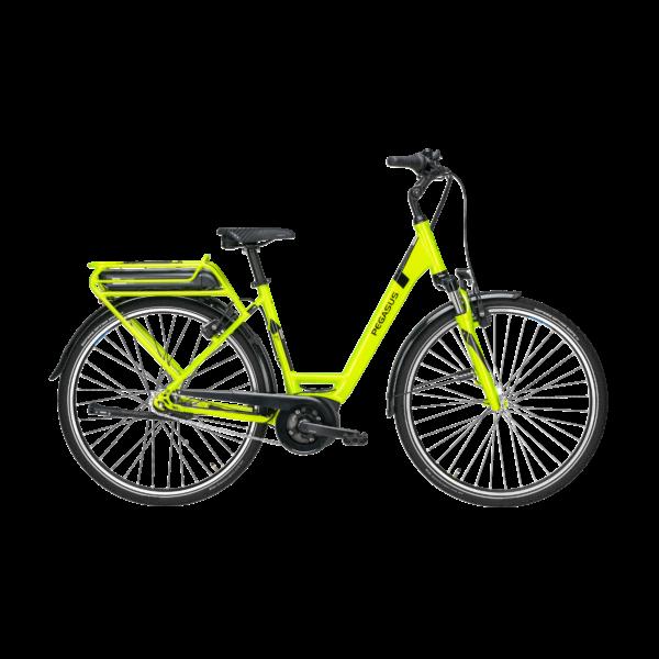 Pegasus Solero E7R elektromos kerékpár neonzöld színben