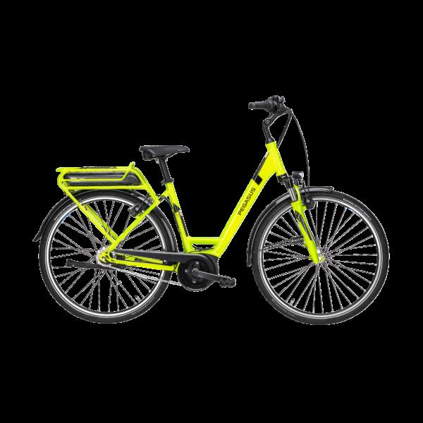Pegasus Soler E7R Plus elektromos kerékpár neonzöld színben