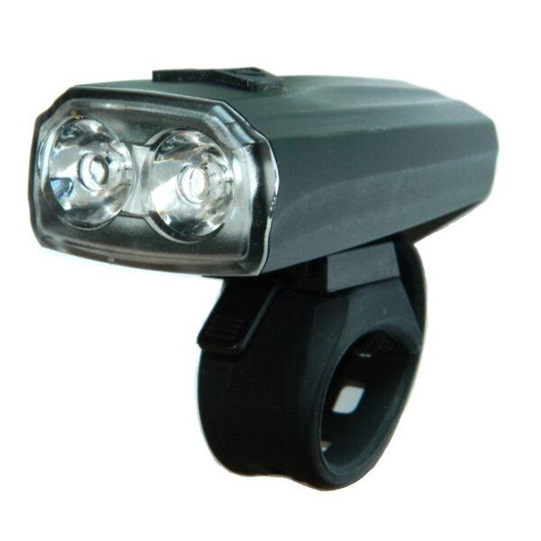 Lámpa első Velotech 2x0,5W LED akkus, tölthető, 3 fokozat, projektoros