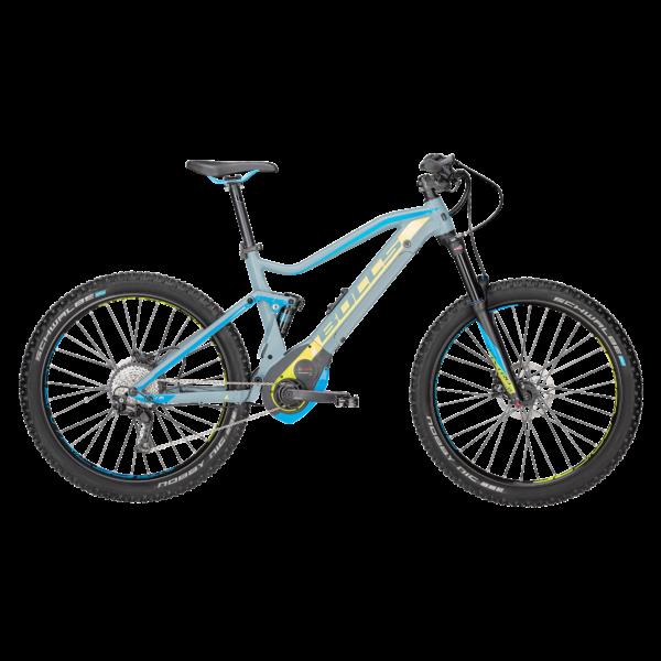 Bulls Six50 EVO TR 2 elektormos kerékpár szürke-kék-sárga színben
