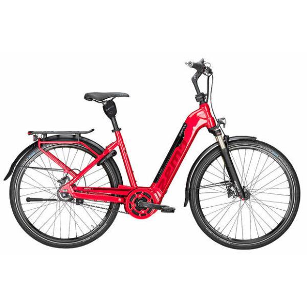 Zemo Aktiv 8N Belt elektromos kerékpár piros színben