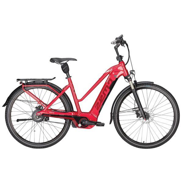 Zemo Tour 10N elektromos kerékpár piros színben