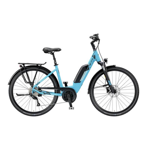 KTM Macina Joy 9 elektromos kerékpár kék színben