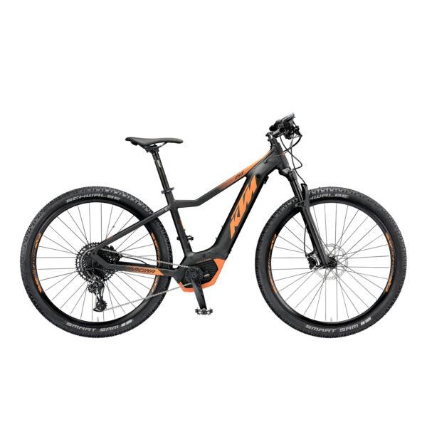 KTM Macina Race 273 elektromos kerékpár fekete-narancs színben
