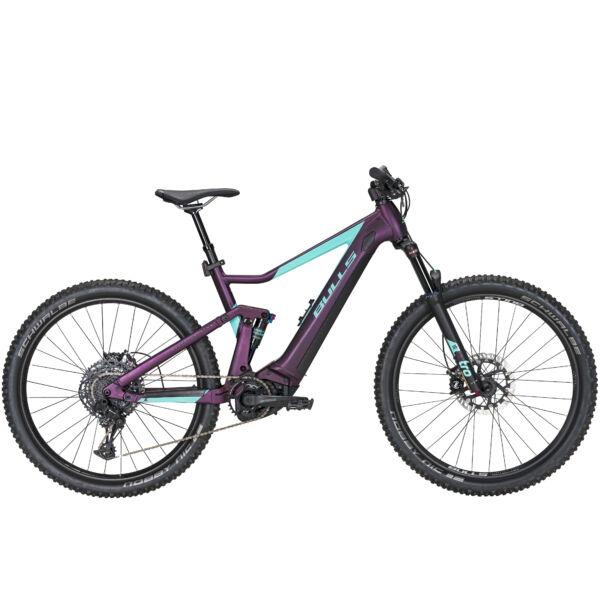 Bulls Aminga Eva TR 3 női elektromos kerékpár padlizsán-kék színben