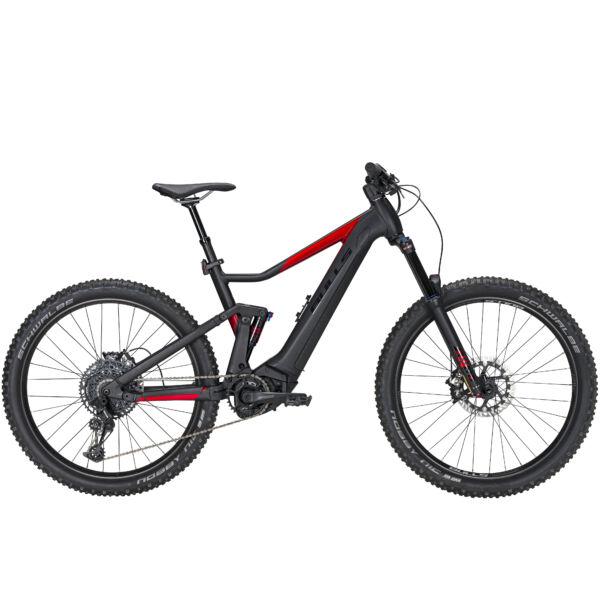 Bulls Copperhead Evo AM 2 elektromos kerékpár fekete-bordó színben