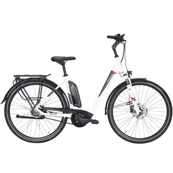 Pegasus Premio E8R Plus Comfort elektromos kerékpár fehér színben